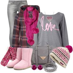 """""""Pretty In Pink"""" by luluchella on Polyvore"""