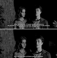 You see Sirius talking to me there? He's asking me to come live with him. That's great. - Harry Potter