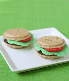 Big Mac Macarons - so cute for a summer picnic.