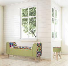Taburet tapitat Hippie Round #homedecor #interiordesign #inspiration #flowers #homedesign #etnic #livingroomdecor Living Room Decor, Armchair, Sweet Home, House Design, Interior Design, Storage, Chairs, Inspiration, Furniture