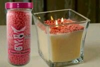 Sprinkle on top of an old candle and bring it to life!  www.pinkzebrahome.com/melissamoorepink