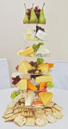 Centerpiece-Cheese-Fruit-Decor www.tablescapesbydesign.com https://www.facebook.com/pages/Tablescapes-By-Design/129811416695