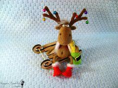 Project by Nati0703. Dear Reindeer crochet pattern by Borisenko for LittleOwlsHut. #LittleOwlsHut, #Amigurumi, #CrohetPattern, #Crochet, #Crocheted,# Santa &Reindeers #Borisenko, #DIY, #Craft, #Pattern