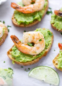 Avocado and Shrimp Crostini Recipe – fast and easy to make, perfect for a healthy snack and great for a party. Crunchy bread, mashed avocado and lightly seasoned shrimp – I can totally call this lunch or dinner, too! I'm a huge fan of avocado toast, and this time I made it in its mini version …