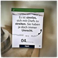 Kalenderspruch des Tages - mmmh.. #hoelschuh #emsdetten #sprüche #zitate #chef #aphorismen