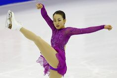 GPF 2015 || 女子SPで3位になった浅田真央の演技=バルセロナ(共同)