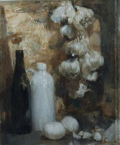 Still Life with garlic   oil on canvas, 2003