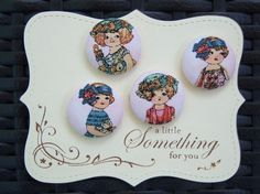 NewRae MarquezPaper DollsFabric covered button by howbeadyful, $5.95