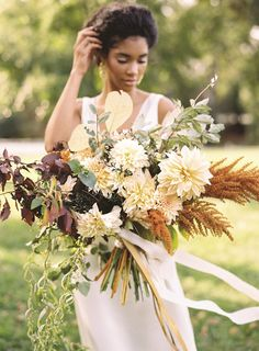 Elegant Autumn Wedding Inspiration from Joey Kennedy Photography fall wedding styles / rustic october wedding / fall wedding stuff / fall wedding autumn / wedding ideas fall november Bridal Bouquet Fall, Fall Wedding Bouquets, Fall Wedding Flowers, Bride Bouquets, Autumn Wedding, Floral Wedding, Purple Bouquets, Autumn Bride, Bridesmaid Bouquets
