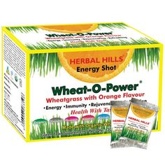 WheatGrass Powder in Sachet Orange Flavour, Herbal Hills - #herbalfa