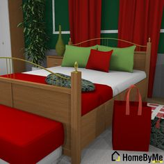 Color goes a long way in this deco for the holidays. 3D design and rendering in @HomeByMe 3d Interior Design, 3d Design, House Design, Design Ideas, Outdoor Furniture Sets, Outdoor Decor, Bedroom Decor, Projects, Holidays