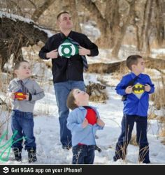 Awesome family picture: I think my boys would love to do this!