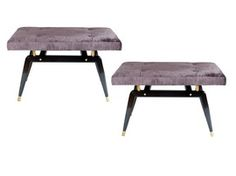 Pair Of Formation Benches  MidCentury  Modern, Upholstery  Fabric, Metal, Bench by Cf Modern