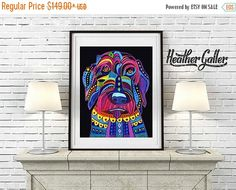 60% Off Today- Labradoodle art dog Art Print Poster by Heather Galler (HG556)