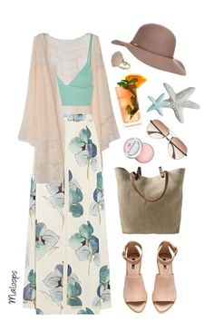 """~Let's go to the beach, each, let's go get away~"" by maloops ❤ liked on Polyvore featuring T By Alexander Wang, Tory Burch, Accessorize, H&M, Independent Reign, Sephora Collection, Fresca, Topshop, springtime and islandgetaway"