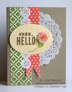 Oh Hello Vintage Chic Card by juls716 - Cards and Paper Crafts at Splitcoaststampers