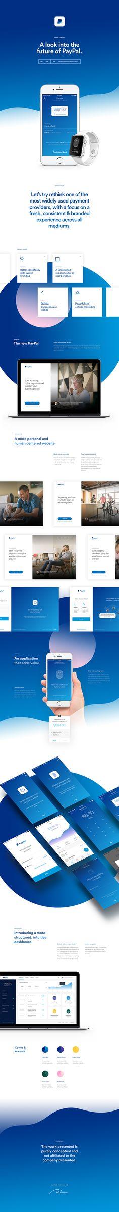 UI Design: PayPal Concept Design   Abduzeedo