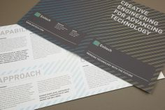 Clean and simple brochure design