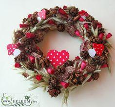 őszi kopogtató, piros pettyes (15cm) Christmas Wreaths, Decoration, Holiday Decor, Home Decor, Christmas Swags, Dekoration, Decoration Home, Holiday Burlap Wreath, Interior Design