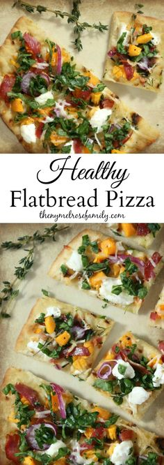 Flatbread Pizza Healthy Flatbread Pizza with fresh ingredients and amazing flavors.Healthy Flatbread Pizza with fresh ingredients and amazing flavors. Healthy Snacks, Healthy Eating, Healthy Recipes, Healthy Flatbread Recipes, Healthy Flatbreads, Menu Dieta, Deep Dish, Clean Eating, Good Food