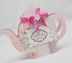 Quilted teapot card so cute