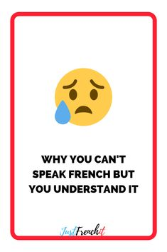 You understand French but you can't speak it? There's a simple reason. That's a good news, means you could have your first French conversation in a week. Learn French Beginner, Learn French Fast, French For Beginners, How To Speak French, French Conversation, French Expressions, Learning Techniques, French Resources, French Words
