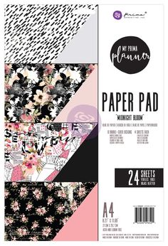 + A4 Paper Pads: You will also be able to buy the matching paper pads to these collections with the most gorgeous patterns to make dividers and dashboards, or to make cards, tags, and layouts!  SKU #596521