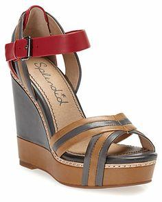 "Splendid ""Key West"" Leather Platform Wedge Sandal"