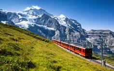 Ferrovia mais alta da Europa leva visitantes às mais belas paisagens da Suíça