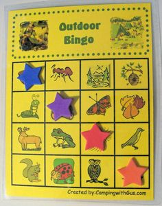 Camping with Kids Games - Nature's Bingo