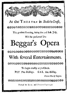 """""""Perhaps you've seen my Polly in 'The Beggar's Opera'?"""""""