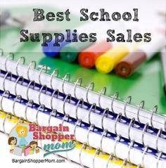 best school supplies sales this week - updated each week