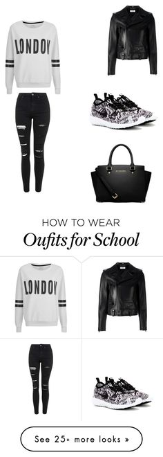 """#School"" by aicha-hazani on Polyvore featuring ONLY, Topshop, Yves Saint Laurent, NIKE, MICHAEL Michael Kors, women's clothing, women's fashion, women, female and woman"