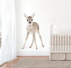 Large Baby Deer Interior Wall Decal by GingerMonkey0 on Etsy