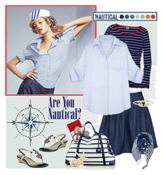 """""""Nautical Style"""" by vio8leta ❤ liked on Polyvore featuring mode, Avery, Forum et nauticalstyle"""