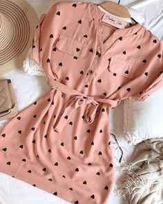Cute Summer Outfits, Cute Casual Outfits, Stylish Outfits, Casual Dresses, Fashion Dresses, Casual Summer, Teenage Outfits, Kpop Outfits, Girl Outfits