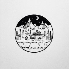 simple yet sweet camping illustrations by david rollyn