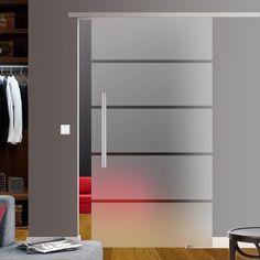 Slimline Softstop Glasschiebetür Glas Schiebe Tür mit Stange 900x2050m BP1-9GE42 | Heimwerker, Fenster, Türen & Treppen, Türen | eBay!