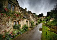 Cottages in the rain