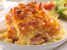 This delicious Potato Bacon Casserole takes only 10 minutes preparation and is sure to become a big family favourite!  Hash brown potatoes, bacon and cheese are a perfect comfort food.  With only 5 Ingredients you'll love …