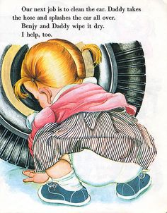 Eloise Wilkin.   Whenever a Little Golden Book came out with her illustrations, it was added to Jill and Jason's library.  Why didn't I keep those!!!???