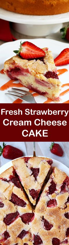 Fresh Strawberry Cream Cheese Cake is one of my favorite cakes and it has a special place in my cookbook. There is a special place for a special cake ♥