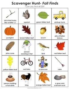 Scavenger Hunt for Kids- Fall Finds