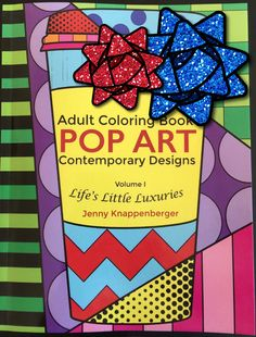 Pop Art Adult coloring book makes a great gift for Christmas!