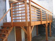 Terrasse Bois Suspendue Sur Pilotis Et Balcons Bois à Angers   Artisan  Construction   Menuisier Maine