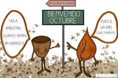 cartel octubre Messages, Humor, Twitter, My Love, Blog, Autumn, Memes, Google, Party
