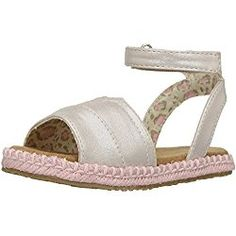 TOMS Kids Baby Girl's Malea Sandals (Toddler/Little Kid) Pale Gold Shimmer PU Sandal