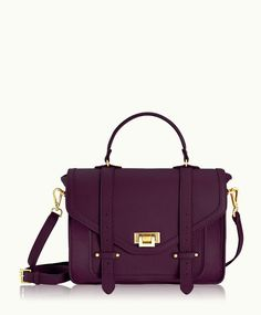 GiGi New York | Wine Hayden Satchel | Pebble Grain Leather