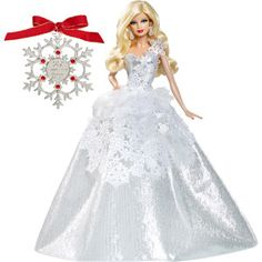 2013 Holiday Barbie Doll with Ornament @kimberly bobrow tell dad to get you this... she is beautiful!!