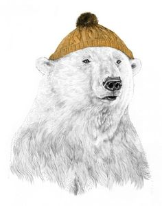 Illustration. #winter #happy #bear